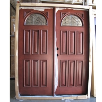 "Double Mahogany Half Moon a Pair of 32"" Double Door"