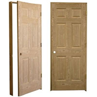 High Quality American Heritage Oak Pre-Hung Solid Wood 6 Panel Interior Door