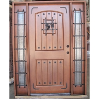 Solid Rustic Front Door with Speak-Easy Pre-hung &Finished