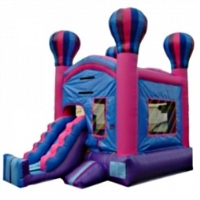 Commercial Grade Inflatable Hot Air Balloon Slide 2in1 Combo Bouncy House