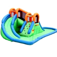 Inflatable Water Slide with Double Blast Water Park