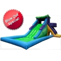 Huge 20' Inflatable Water Slide Park with Double Wide Slide