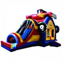 Commercial Grade Inflatable 3in1 Monster Truck Slide Combo