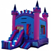 Commercial Grade Inflatable Princess Royal Castle 2in1Combo Bouncy House