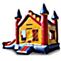 Commercial Grade Inflatable American Mini 2in1 Combo Bouncy House