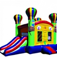 Commercial Grade Inflatable Deluxe Hot Air Balloon Slide 2in1 Combo Bouncy House