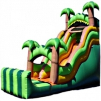 Commercial Grade Inflatable Tropical Wavy Double Drop Water Slide