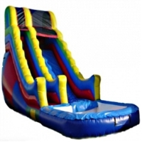 Commercial Grade Inflatable Deluxe Multi Color Wavy Water Slide