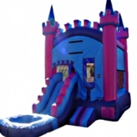 Commercial Grade Inflatable Princess Royal Castle Bouncy House with Pool
