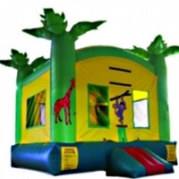 Commercial Grade Inflatable Tropical Jungle Bouncer Bouncy House