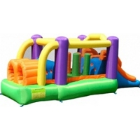 Obstacle Speed Racer Bouncer Bouncy House with Blower