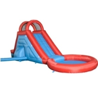 Pool Water Splash Slide Bouncer with Blower