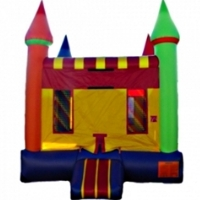 Commercial Grade Inflatable Rainbow Castle Bouncer Bouncy House