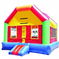 Commercial Grade Inflatable Rainbow Fun House Bouncer Bouncy House