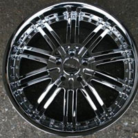 "Set of 4 - 20"" x 8.5"" Inch Triple Plated Chrome Automotive Rims 20"" Wheels"