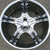 "20 x 8.5 Inch Automotive Rims w/ Triple Plated Chrome Finish - 20"" Wheels - Set of Four"