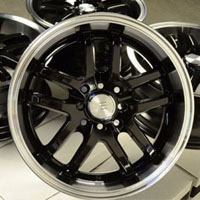 "16"" New Black Fat Lip Wheels Rims Acura CL TC Legend Vigor Accord Prelude Galant"