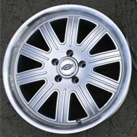 "18 x 9 / 18 x 10 Inch Silver w/ Machined Lip Automotive Rims 18"" Wheels - Set of 4"
