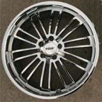 "19 x 8.0 / 19 x 9.5 Inch Triple Plated Chrome Automotive Rims 19"" Wheels - Set of 4"