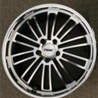 "19 x 8.0 / 19 x 9.5 - Gunmetal w/ Machined Face & Lip Automotive Rims 19"" Wheels - Set of 4 RWD"