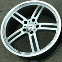 "19 x 8.0 / 19 x 9.5 Inch Hyper Silver Automotive Rims 19"" Wheels - Set of 4 RWD"