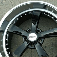 "20 x 8.5 / 20 x 10 Inch Gloss Black w/ Machined Lip Automotive Rims 20"" Wheels Set of Four"
