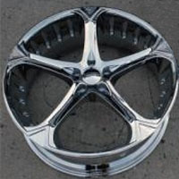 "20 x 8.5 / 20 x 10.0 Inch Triple Plated Chrome Automotive Rims 20"" Wheels - Set of 4"