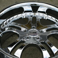 "20 x 8.5 / 20 x 10 - Triple Plated Chrome Automotive Rims 20"" Wheels Set of Four"