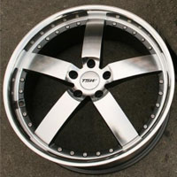20 x 8.5 / 20 x 10 Inch Gunmetal w/ Machined Face & Lip Automotive Rims - Set of Four