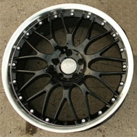 "20 x 8.5 / 20 x 9.5 Inch Glossy Black w/ Machined Lip Automotive Rims - Wheels 20"" - Set of Four"