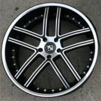 "22 x 9.0 / 22 x 10.5 Inch Matte Black w/ Machined Face & Bezel Automotive Rims 22"" Wheels - Set of Four"