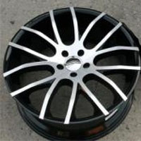 "22 x 9.0 / 22 x 10.5 Inch Gloss Black w/ Machined Face Automotive Rims 22"" Wheels - Set of 4"