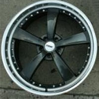 "22 x 9.0 / 22 x 10.5 - Gunmetal w/ Machined Lip Automotive Rims 22"" Wheels - Set of 4"