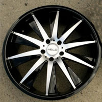 "22 x 8.5 / 22 x 10 Inch Gloss Black w/ Machined Face Automotive Rims 22"" Wheels - Set of 4"