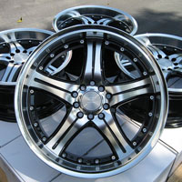 "18"" Effect Wheels Rims 5 Lugs Avalon Camry Impreza Eclipse Optima Genesis Pilot"
