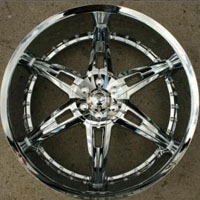 "22 x 9.5 Inches Triple Plated Chrome Automotive Rims 22"" Wheels - Set of 4"