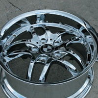 "18 x 8.0 / 18 x 9.0 Inch Triple Plated Chrome Automotive Rims 18"" Wheels - Set of 4"