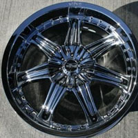 "20"" x 8.5"" Triple Plated Chrome Automotive Rims 20"" Wheels Set of 4 FWD"