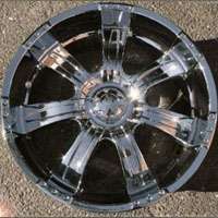 Set of Four 20 x 9.0 Inch Automotive Rims w/ Triple Plated Chrome Finish