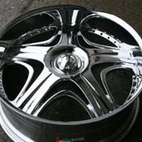 "20 x 9.0 Inch Triple Plated Chrome Automotive Rims - 20"" Wheels Set of Four"