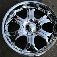 "20"" x 9.0"" Inch Triple Plated Chrome Automotive Rims - 20"" Wheels Set of Four"
