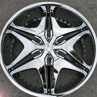 "22 x 8.5 Inch Triple Plated Chrome Automotive Rims 22"" Wheels - Set of 4"