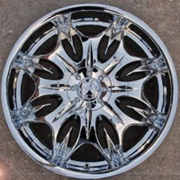 "20 x 8.5 Inch Triple Plated Chrome Automotive Rims 20"" Wheels - Set of 4 FWD"