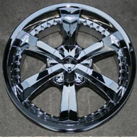 "20"" x 9.0"" Inch Triple Plated Chrome Finish Automotive Rims - 20"" Wheels - Set of Four"
