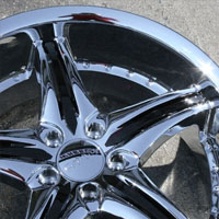 "20 x 8.5 / 20 x 9.5 Inch Triple Plated Chrome Finish Automotive Rims - 20"" Wheels - Set of Four"