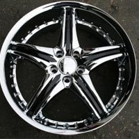 "20 x 8.5 Inch FWD Triple Plated Chrome Automotive Rims 20"" Wheels - Set of 4"
