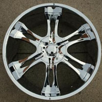 "20 x 9.0 Inch Triple Plated Chrome Automotive Rims 20"" Wheels - Set of 4"