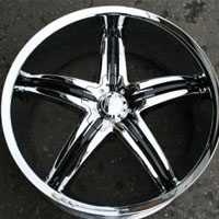 "20"" x 8.5"" Triple Plated Chrome Automotive Rims - Wheels Set of Four"