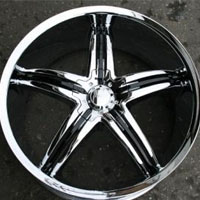"22 x 8.5 Inch Triple Plated Chrome Automotive Rims 22"" Wheels - Set of Four"