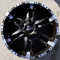 "20 x 9.0 Inch Black w/ Machined- 5 Lug Automotive Rims - 20"" Wheels Set of Four"